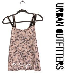 Urban Outfitters Floral Zipper Accent Top